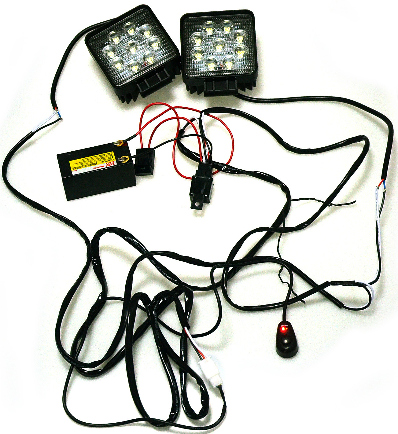 Led Wiring Kit Free Diagram For You Light Bar Kawell 2 Leg Harness Include Switch Support 120w Rh Kawelldeal Com Whip