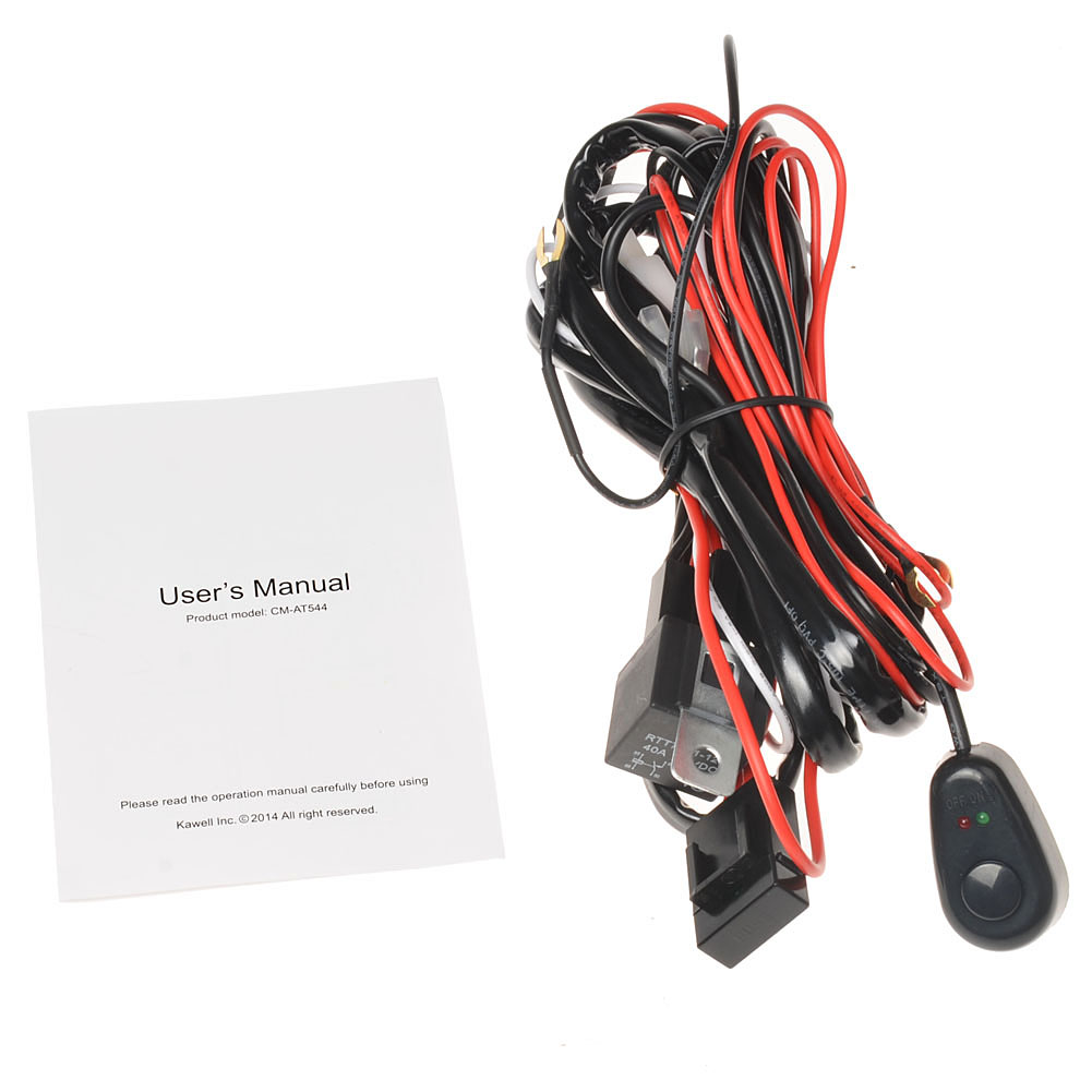 Kawell 2 Leg Wiring Harness Include Switch Kit Support 120w Led Cat Light Diagram And