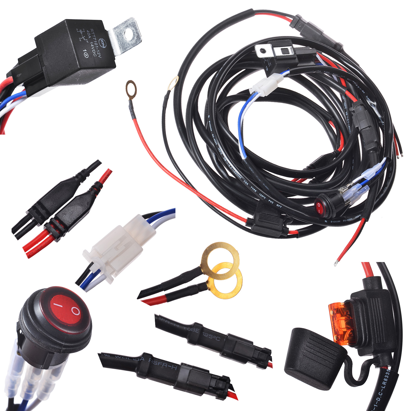 KAWELL® 2 Legs Wiring Harness Include Switch Kit Suppot 300W ... on