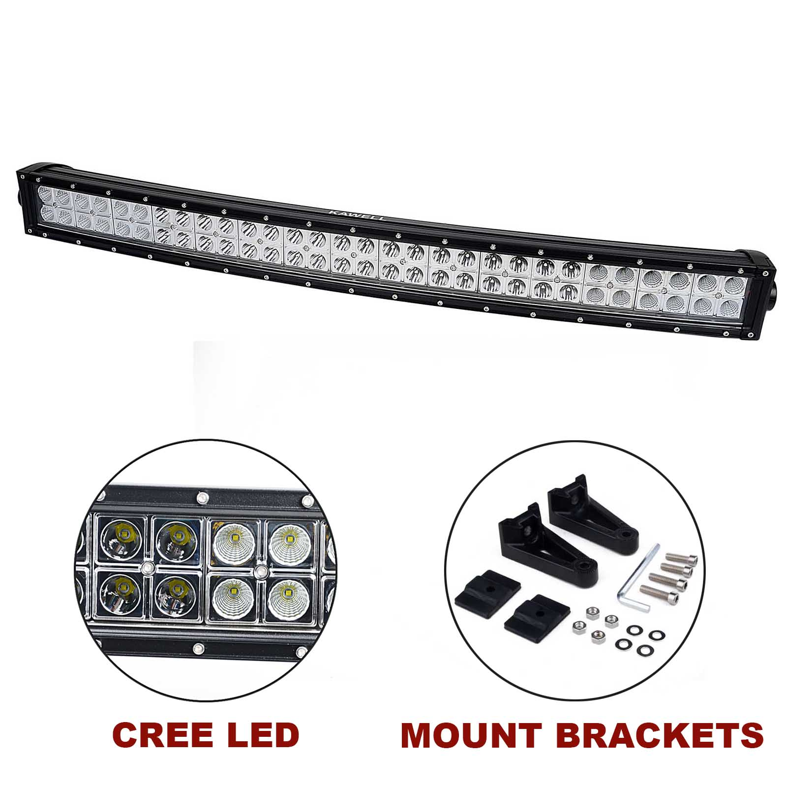 kawell u00ae 32 u0026quot  180w cree curved spot and flood combo beam led