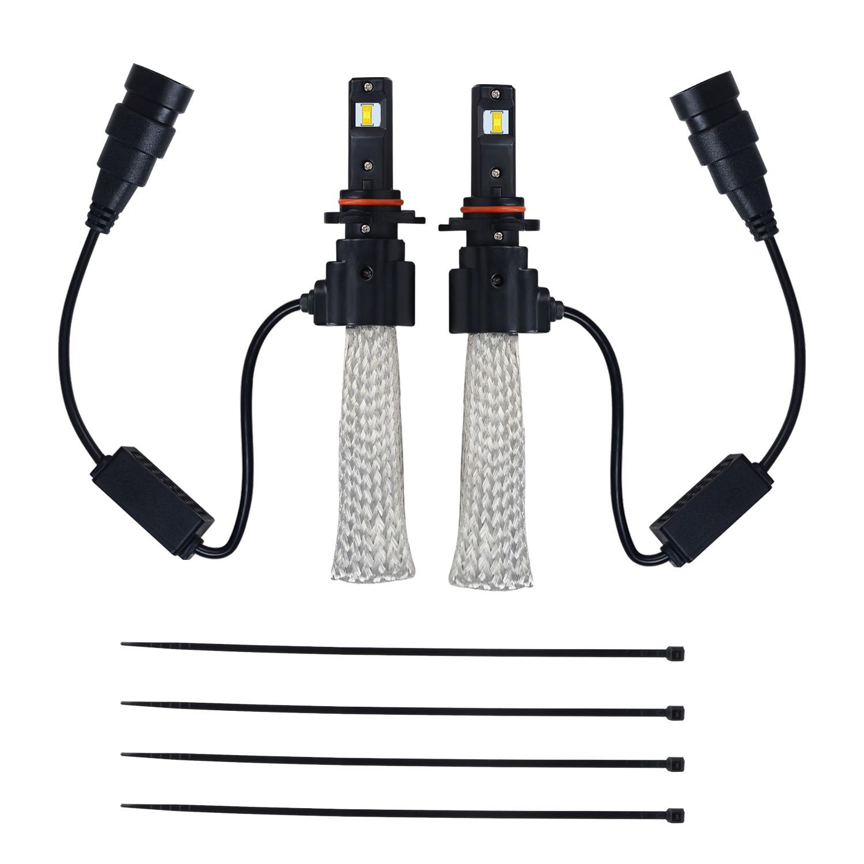 Kawell Led Headlight Bulbs Conversion Kit H11 40w Halogen Wiring Harness 6400lm 6500 Cool