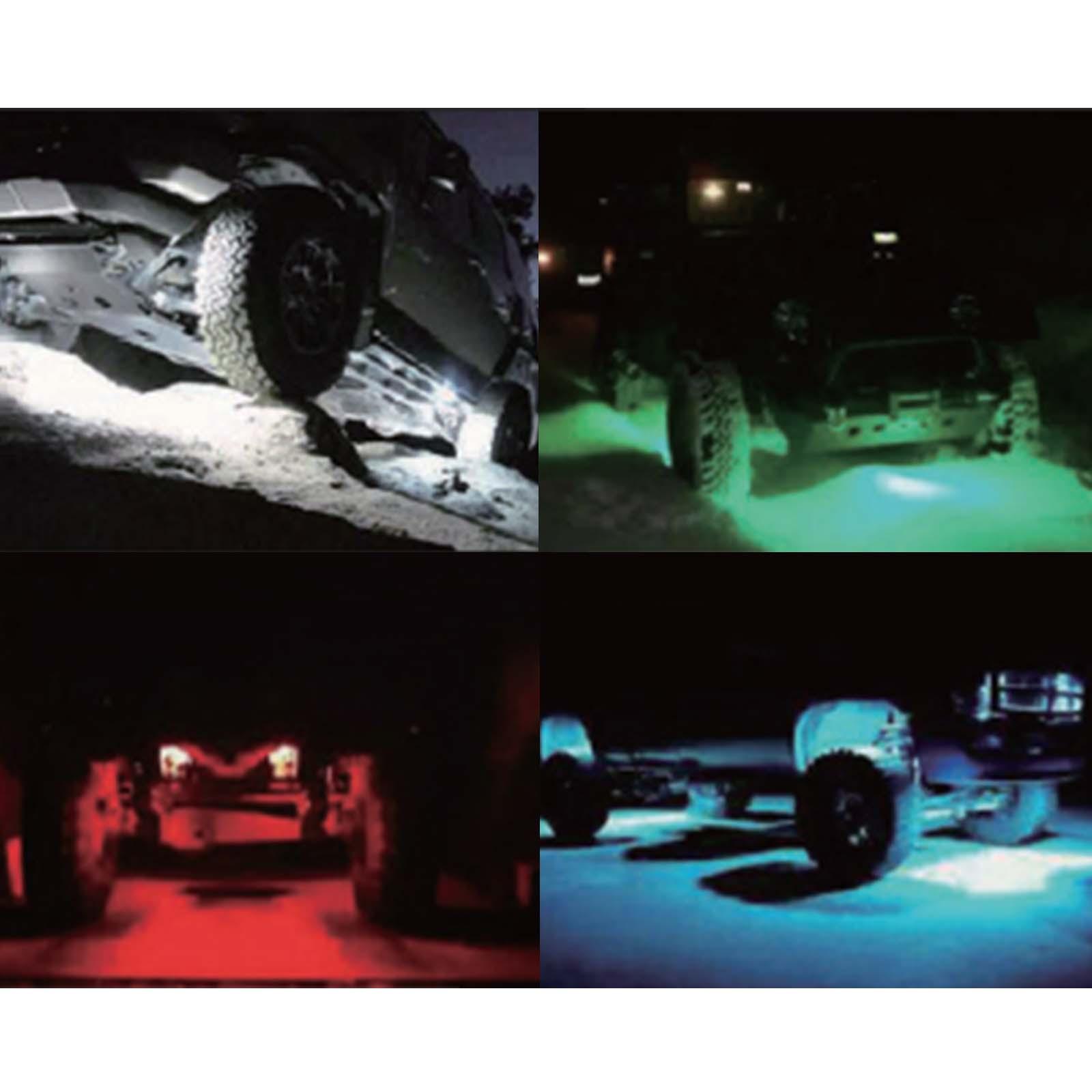 kawell cree led rgb rock light kits super bright led work