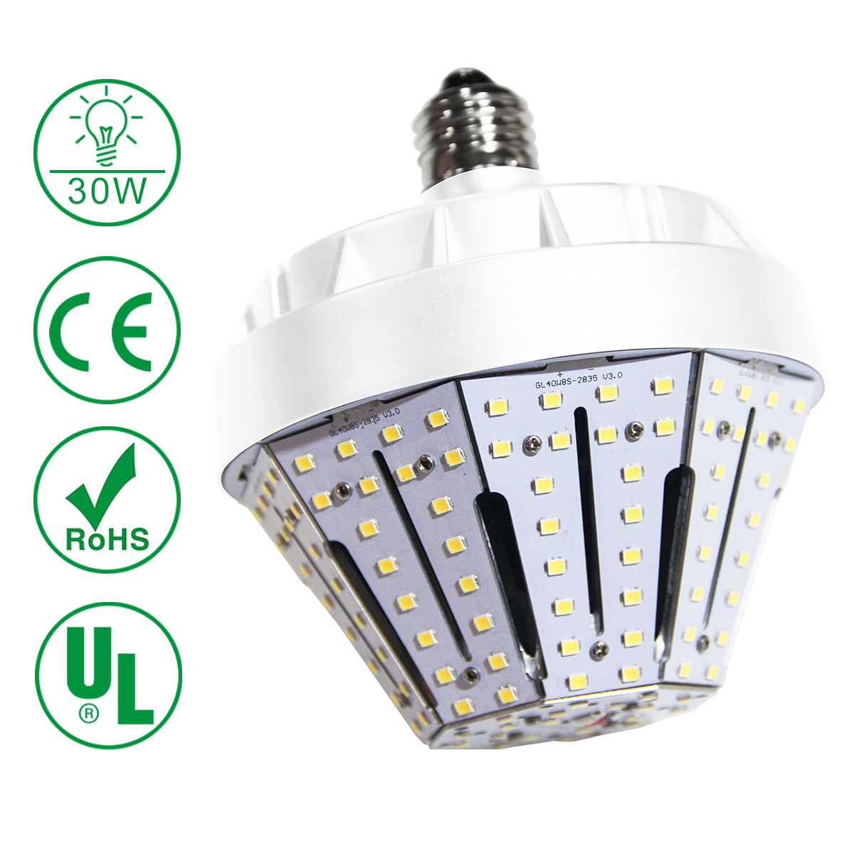 kawell 30w led corn light e26 4500lm 3200k warm white replacement