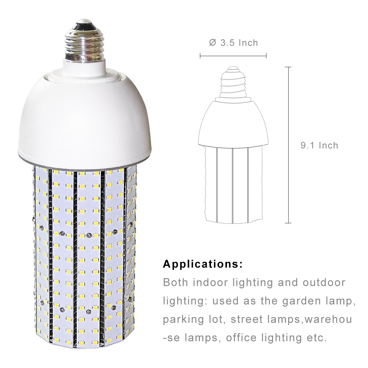 Kawell 40w Led Corn Light Bulb E39 Mogul Screw Base Street Wiring A Lamp For